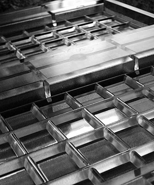 Поликарбонатная форма на 2 плитки шоколада по 200г