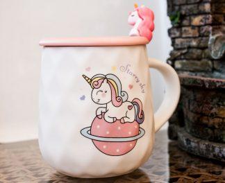 Чашка Единорог керамика