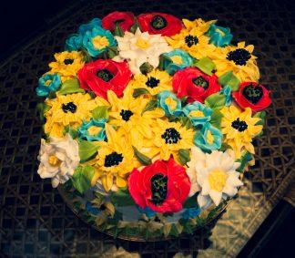 Торт Бисквит Цветы